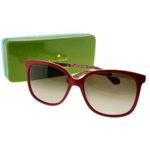 MACKNZEE-S-0XSU-57 Women's Red Frame Sunglasses